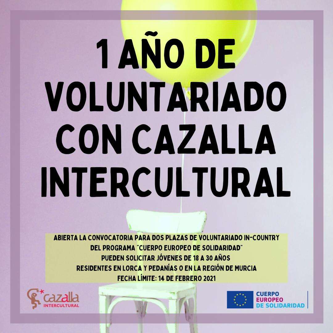 """El programa """"Cuerpo Europeo de Solidaridad"""" financia dos plazas de voluntarios para colaborar con actividades educativas de la ONG Cazalla Intercultural"""