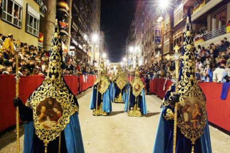 La suspensión de la Semana Santa de Lorca en 2020-2021 a causa de la pandemia se traduce en una pérdida de 27 millones de euros y 400 empleos en la actividad económica local
