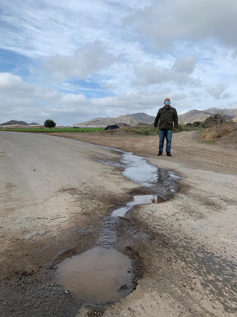 """Bartolomé Hernández: """"Hasta que no vea los caminos arreglados no me creeré nada de la Comunidad Autónoma"""""""