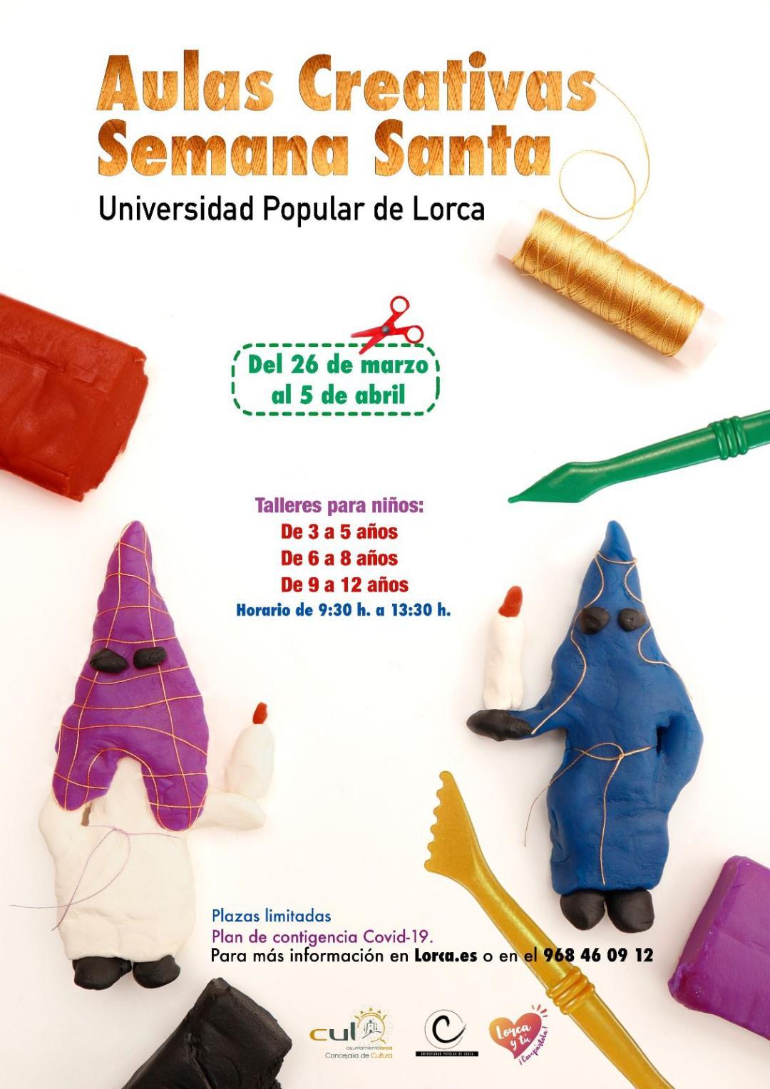 La Universidad Popular pone en marcha una nueva edición del programa 'Aulas Creativas de Semana Santa' para niños y niñas de entre 3 y 11 años