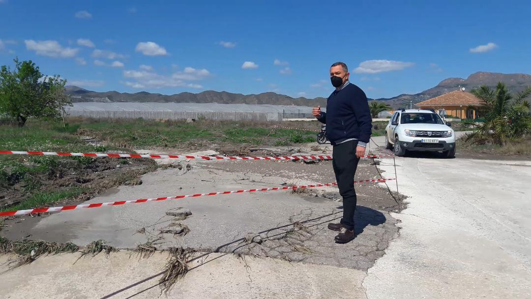 """El PP de Lorca denuncia que los caminos municipales que resultaron afectados por la DANA de Septiembre de 2019 """"siguen sin ser reparados y provocando problemas de inseguridad vial"""""""