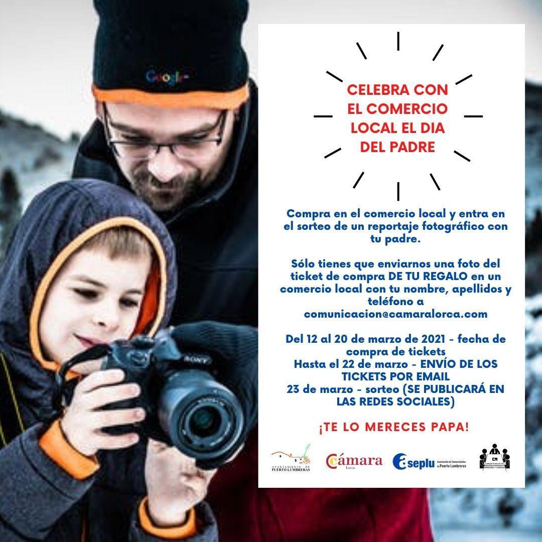 Ayuntamiento, Cámara de Comercio y Aseplu lanzan una campaña para fomentar la compra en el comercio de Puerto Lumbreras por el Día del Padre
