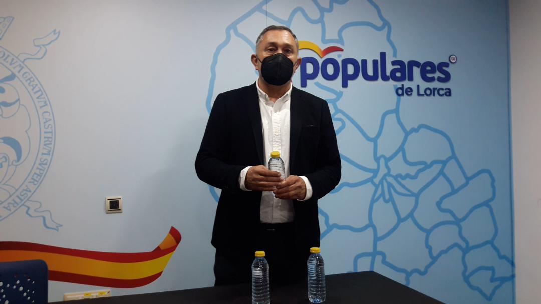 """PP: """"El PSOE de Diego José Mateos y Pedro Sánchez propone un recorte del 30% del agua que llega a Lorca del Tajo-Segura, lo que encarecerá el recibo a todos los ciudadanos"""""""