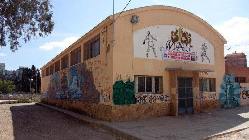 El Ayuntamiento de Lorca concede licencia de obras para la rehabilitación del gimnasio del Instituto 'José Ibáñez Martín'