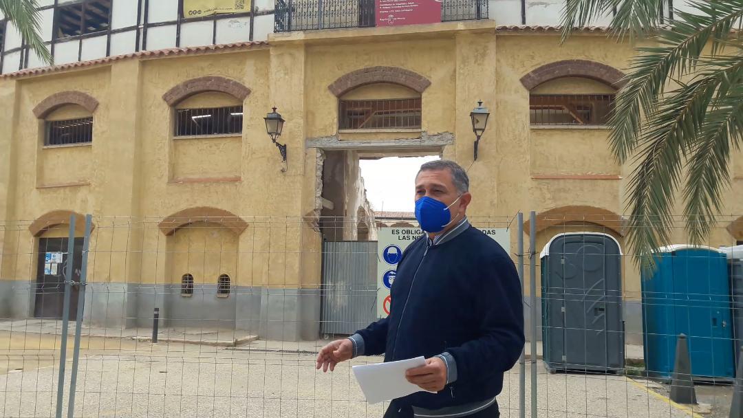 """PP Lorca:""""Las obras de recuperación de la plaza de toros acumulan más de dos meses de paralización total, cuando ya tendrían que estar terminadas"""""""