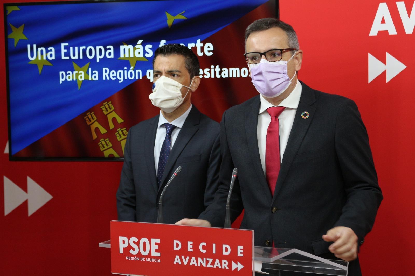 El PSOE vuelve a instar al Gobierno regional a consensuar los proyectos de Región que optarán a los fondos europeos