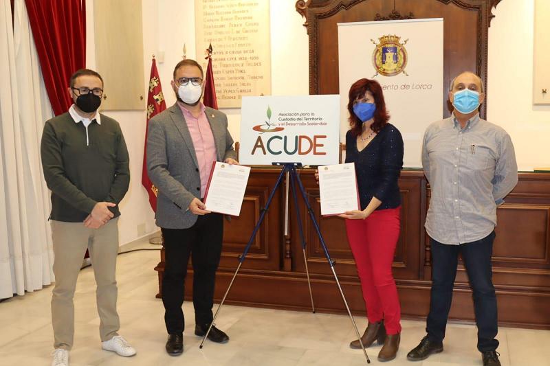 El Ayuntamiento de Lorca cede a ACUDE el uso de la finca 'Villareal' para su puesta en valor y la protección de su biodiversidad