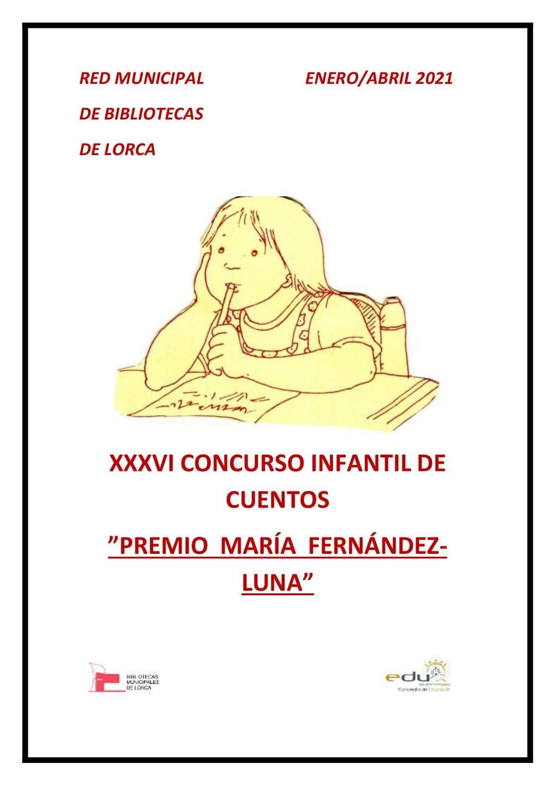 El Ayuntamiento de Lorca abre el plazo para participar en el XXXVI Concurso Infantil de Cuentos 'Premio María Fernández-Luna'