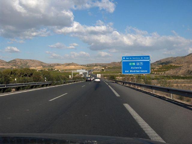 El Grupo Municipal del PP pide al Gobierno de España la ampliación del proyecto del tercer carril de la autovía A7 hasta Puerto Lumbreras
