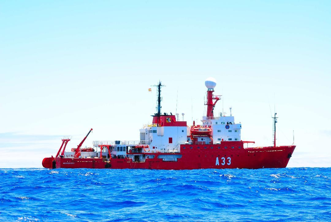 """El buque de investigación oceanográfica """"Hespérides"""" regresa a Cartagena"""
