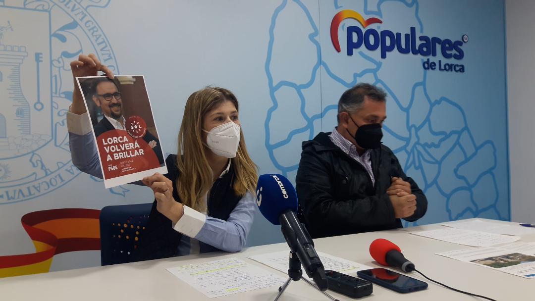 """PP Lorca: """"El Gobierno local del PSOE excluye la mejora del casco histórico y la lucha contra la despoblación en pedanías de los fondos europeos para la recuperación"""""""