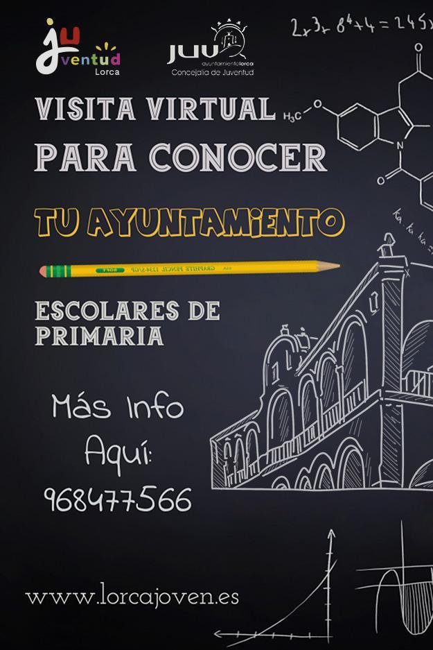 El Ayuntamiento de Lorca pone en marcha el programa 'Conoce tu Ayuntamiento' para que los alumnos de Primaria puedan visitarlo de manera virtual