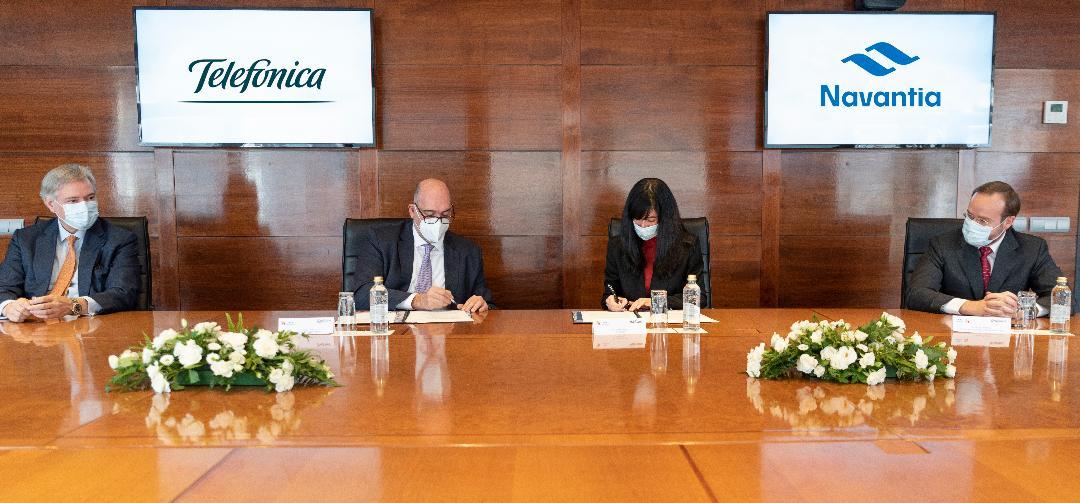 Telefónica y Navantia colaborarán para ofrecer Ciberseguridad en el ámbito de Defensa