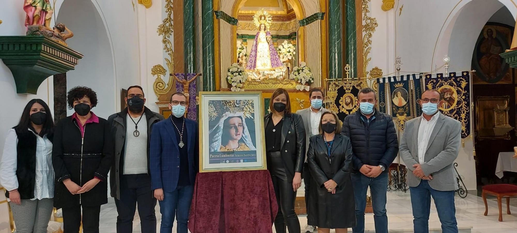 La imagen de María Santísima de la Esperanza protagoniza el cartel de la Semana Santa de Puerto Lumbreras
