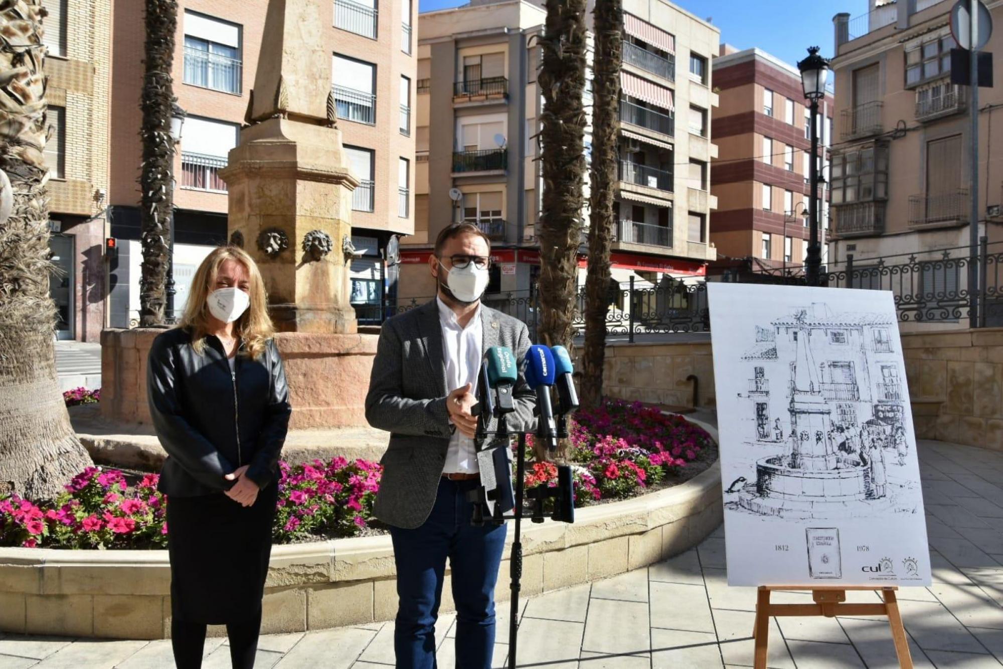El Ayuntamiento de Lorca quiere recuperar un ejemplar de la Constitución de 1812, conocida como 'La Pepa', que podría estar enterrado en la Plaza de la Estrella