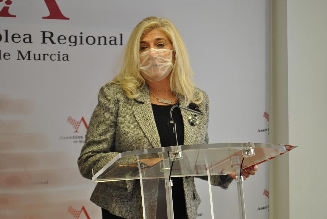 """Gloria Alarcón: """"La alternativa para la Región de Murcia sigue siendo el PSOE"""""""