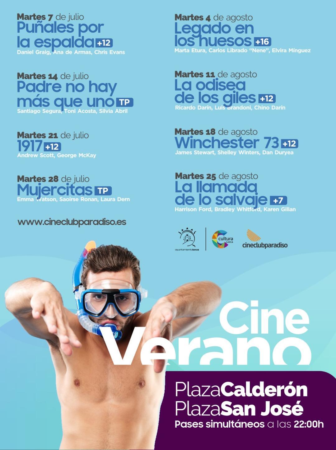 """La película '1917' se proyectará hoy martes, 21 de Julio, a las 22 horas dentro de la programación """"Verano de Cine"""" puesta en marcha para amenizar el periodo estival en Lorca"""