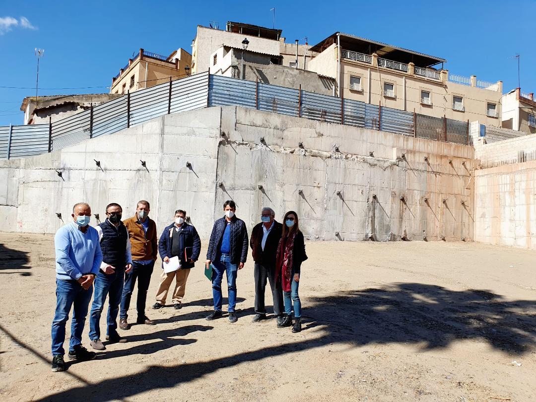 """El Ayuntamiento de Lorca recepciona las obras que se han llevado a cabo para la estabilización y consolidación del muro y el talud de la Calle """"Portijico"""""""