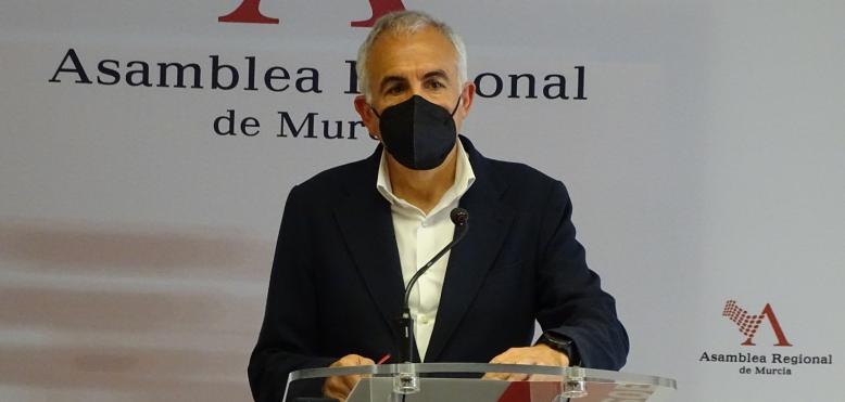 """Martínez Baños: """"No tenemos presupuestos en la Región porque hay un Gobierno que solo se entiende con tránsfugas y la ultraderecha"""""""