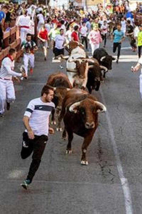 Una manada disgregada deja seis heridos leves en el encierro de San Sebastián de los Reyes