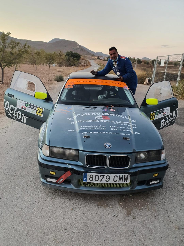 Piloto de Rally y piloto submarinista, Mahy Alfonso, tercer clasificado en el Rally de Zarcilla de Ramos