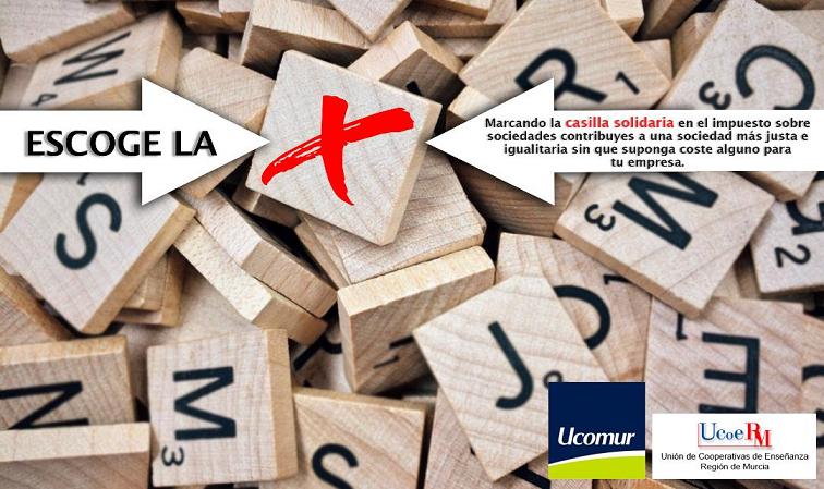 Ucomur y Ucoerm anima a sus asociados a sumarse al movimiento en favor de la casilla solidaria con la campaña Escoge la X