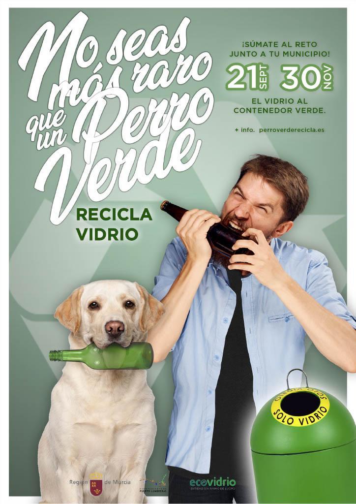 """Puerto Lumbreras se suma a la campaña de Ecovidrio y Gobierno regional """"No seas más raro que un perro verde"""", para crear los primeros hogares sostenibles para animales"""