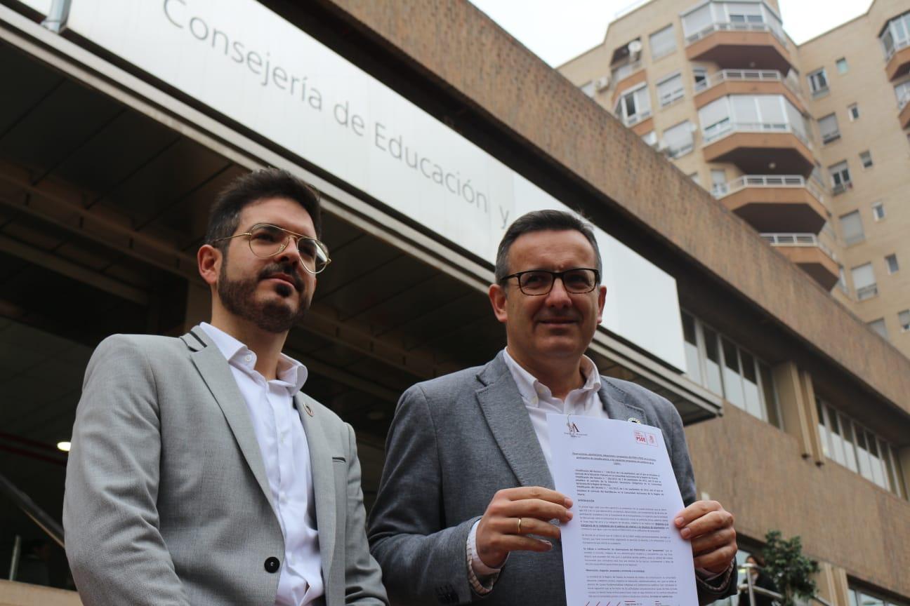 """Diego Conesa: """"López Miras quiere ampararse en la justicia porque es incapaz de decirle que no a Vox"""""""