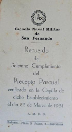 """Culturilla Naval: Algunas tradiciones perdidas de la Armada: el """"Cumplimiento Pascual"""", por Diego Quevedo Carmona, Alférez de Navío ®"""