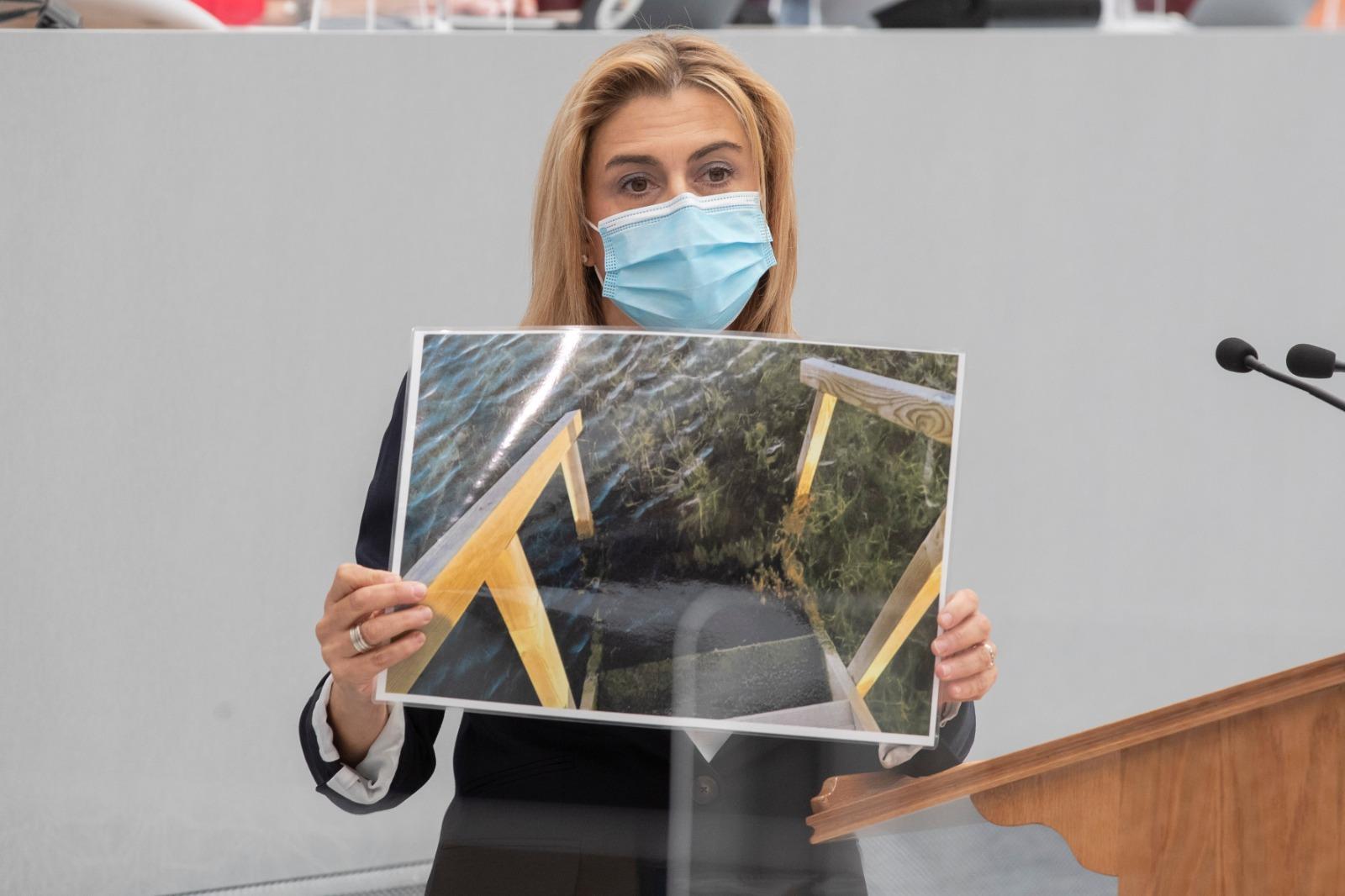 """Carmina Fernández: """"La imagen de la Región seguirá por los suelos mientras el Gobierno regional no sea capaz de solucionar el problema del Mar Menor"""""""