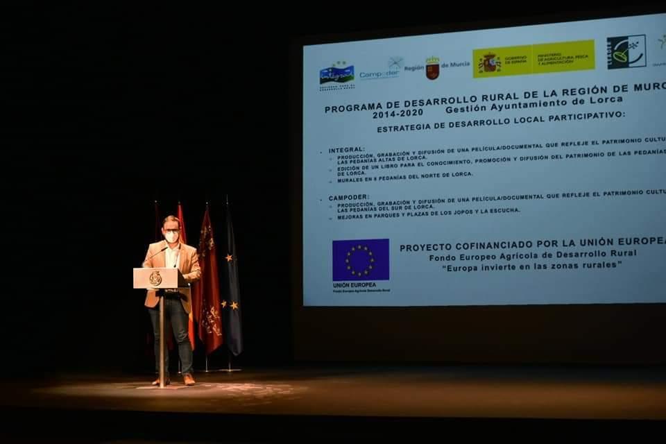 """El Alcalde de Lorca destaca """"la importancia de los fondos Leader para el desarrollo de proyectos que permitan luchar contra la despoblación y seguir difundiendo el patrimonio cultural de las pedanías"""""""