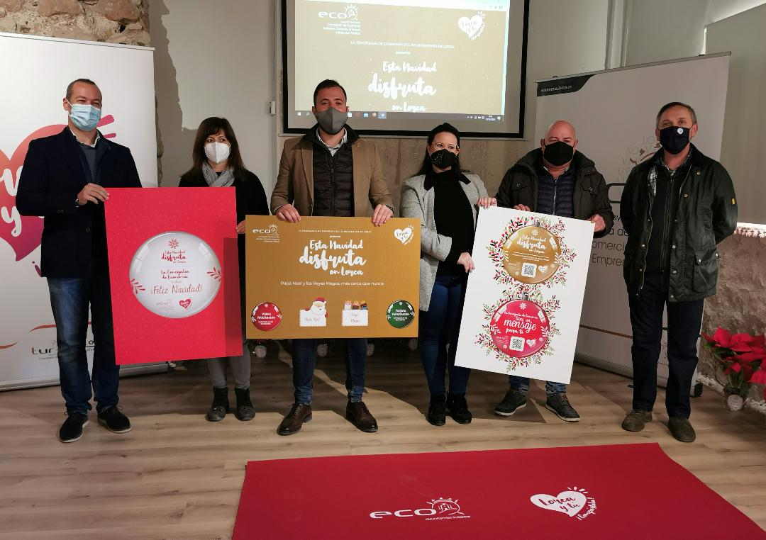 """Campaña navideña de la Concejalía de Economía: """"Esta Navidad ¡Disfruta en Lorca!"""" para apoyar al comercio, la hostelería y la artesanía del municipio, promover el consumo local y resaltar su esfuerzo en este complicado año"""