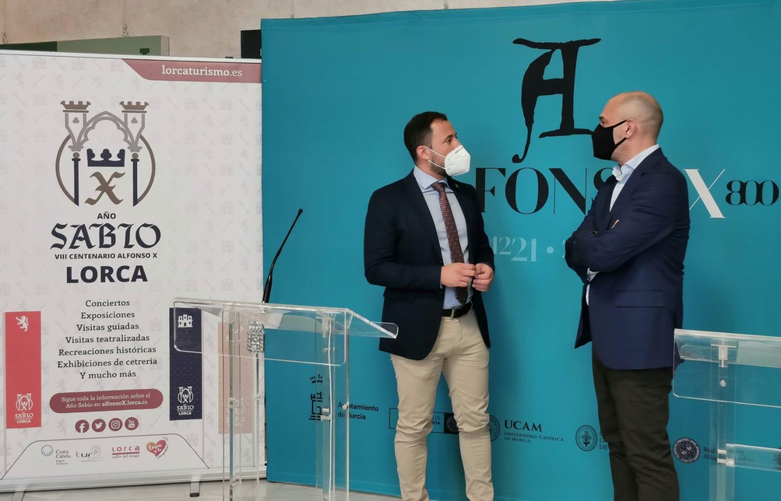 Lorca y Murcia se unen con motivo del VIII centenario del Rey Alfonso X 'El Sabio' para generar sinergias aumentando los visitantes y turistas