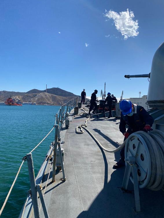 """El Patrullero """"Infanta Cristina"""" realiza vigilancia marítima en aguas de soberanía e interés nacional"""