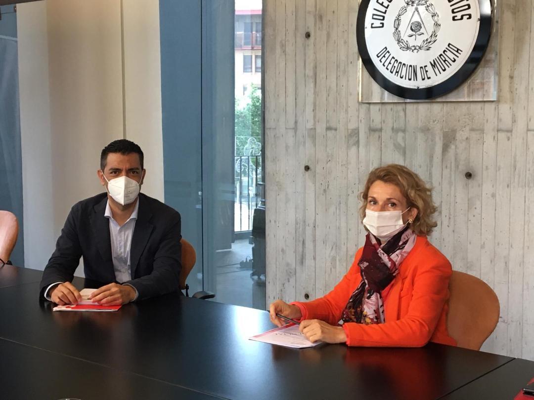 El Colegio de Arquitectos de Murcia y el eurodiputado Marcos Ros analizan los fondos y ayudas europeas al sector de la construcción