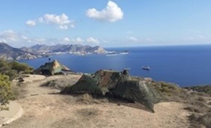 La Unidad de Defensa de Costa despliega en la zona del litoral de Cartagena