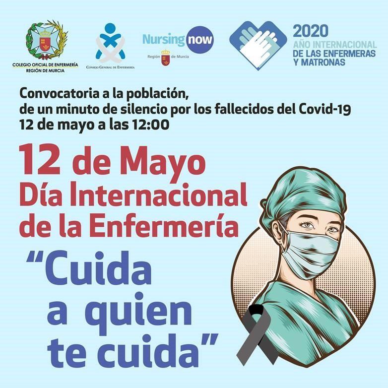 Los enfermeros convocan hoy a las 12, frente al Ayuntamiento e Águilas, a guardar un minuto de silencio en memoria de las víctimas del Covid
