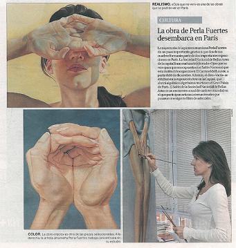 'Perla Fuertes, flamenco sobre lienzo', por Jerónimo Martínez