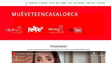 La Concejalía de Deportes pone en marcha el proyecto #MuéveteencasaLorca para facilitar la práctica deportiva de los lorquinos