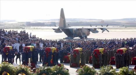 La pierna de una víctima del Yak-42 ha sido encontrada en un cementerio turco