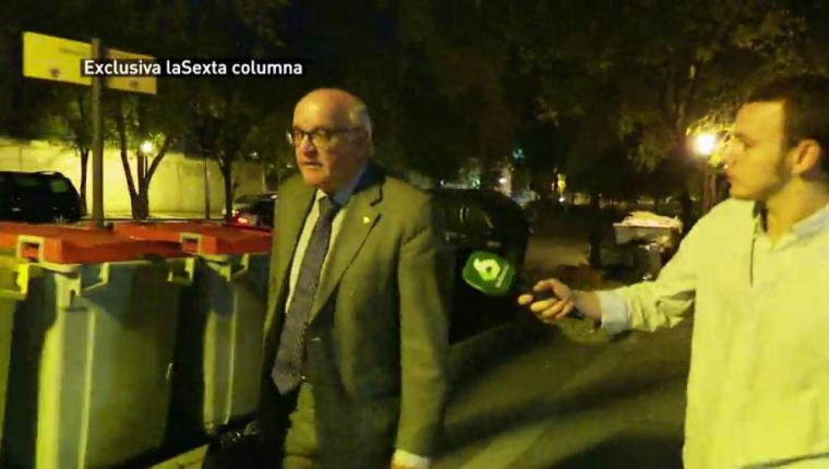 El juez Yusty Bastarreche, molesto cuando le preguntan por Franco